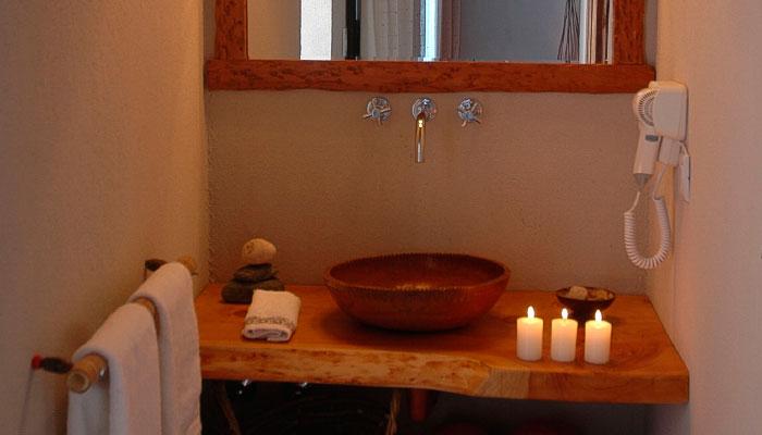 Toilette de las habitaciones del hotel terrazas del uritorco