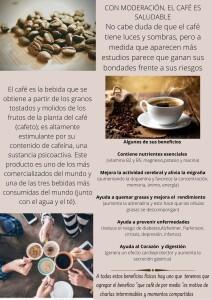 CON MODERACIÓN, EL CAFÉ ES SALUDABLE No cabe duda de que el café tiene luces y sombras, pero a medida que aparecen más estudios parece que ganan sus bondades frente a sus riesgos
